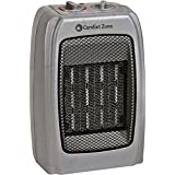 Comfort Zone Ceramic Heater, Silver, 1500 Watts