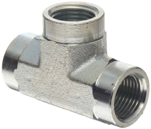 Dixon 5605-8 Zinc Plated Steel Hydraulic Pipe Fitting, Tee, 1/2