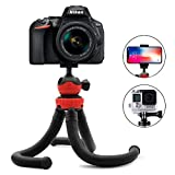 Aobelieve Versatile Flexible Tripod for iPhone - GoPro and DSLR Camera - Swivel Ball Head and Bendable Legs Design - Included Universal Smartphone Holder and GoPro Adapter