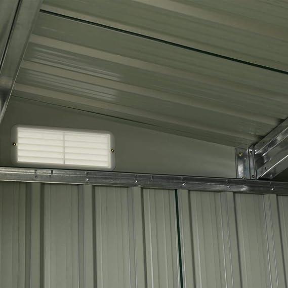 Lechnical Caseta de jardín con puertas corredizas metálicas Cobertizo para herramientas con techo pent Cobertizo para herramientas de jardín Armario de herramientas antracita 329,5×205×178 cm de acero: Amazon.es: Hogar