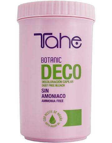 Tahe Botanic Decoloración Sin Amoniaco para Todo Tipo de Bases para Decoloración Integral, Mechas,