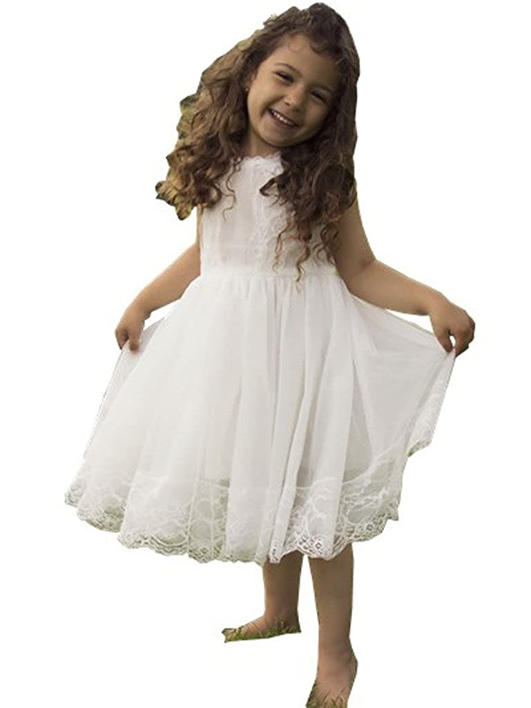 Bowdream Flower Girl's Dress Vintage Lace
