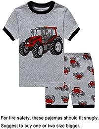 Boys Dinosaur Little Kid Shorts Set 100% Cotton Sleepwear Toddler PJS