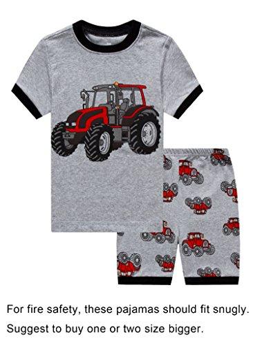 IF Pajamas Little Boys Snug-Fit Pajamas 100% Cotton Grey PJS Clothes Infant Kid 3T