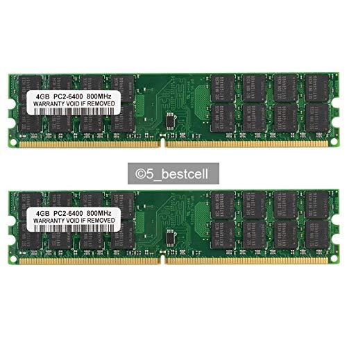 FidgetKute 8GB 2X4GB DDR2-800MHz PC2-6400 240PIN PC6400 Fit AMD Motherboard Memory RAM
