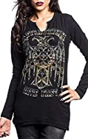 Affliction Rising Chrome Long Sleeve Top