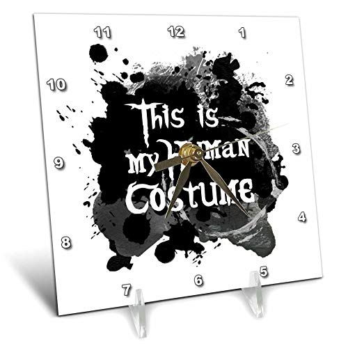 3dRose InspirationzStore - Occasions - This is My Human Costume - Humorous Funny Halloween Disguise Humor - 6x6 Desk Clock (dc_317320_1)]()