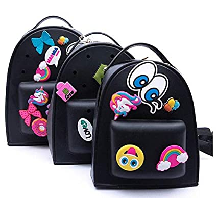 MOCA for Womens Little Kid Girls Trendy Stylish Silicone Candy Small Mini  Backpack Daypack for Girls Gift (Black)  Amazon.in  Bags 99289508e5