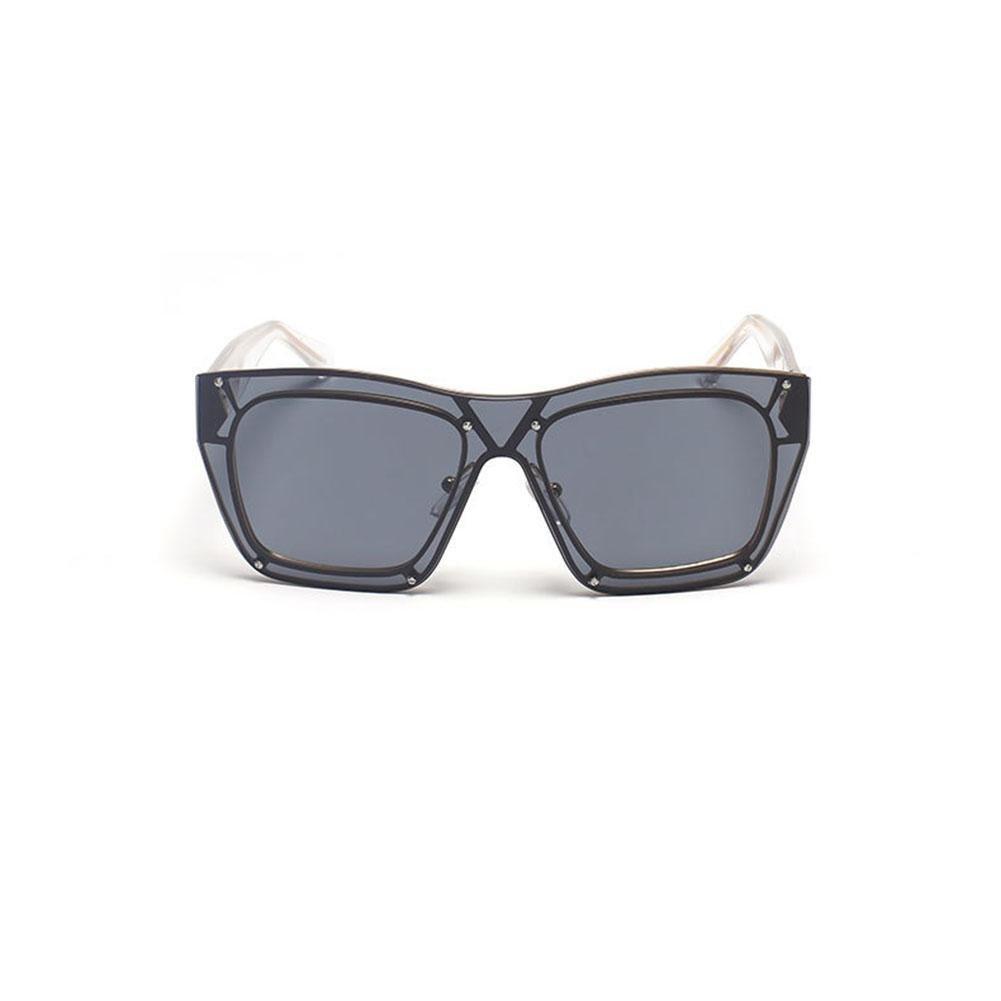 Z&YQ Occhiali da sole Metal Frame one slice Moda unisex Driving Occhiali da viaggio anti-UV , B