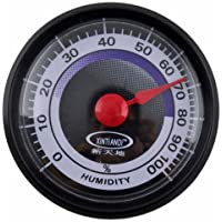 ZHUOTOP Mini Power-Free Indoor Humidity Hygrometer Easy to Carry Black