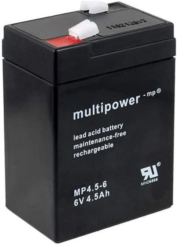 Powery Batería de Repuesto para Coche infantil Peg Perego Feber Injusa Smoby Diamec 6V 4,5Ah (Reemplaza también 4Ah 5Ah)