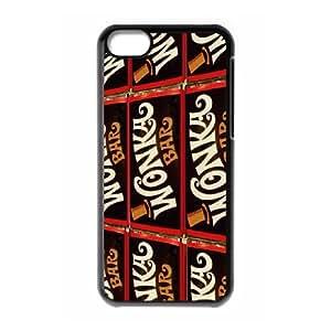 Unique Design -ZE-MIN PHONE CASE For Iphone 5c -Popular Wonka Bar Pattern 3