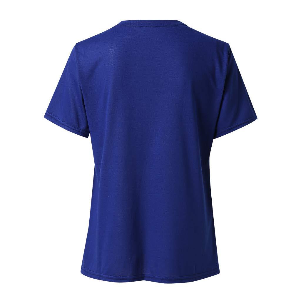 Susen Manga Corta Camiseta Mujer Camiseta De Manga Corta con Estampado De Girasol para Mujer Imprimiendo Tops Blusa Tunic Top tee De Decoracion Camisas Tapas