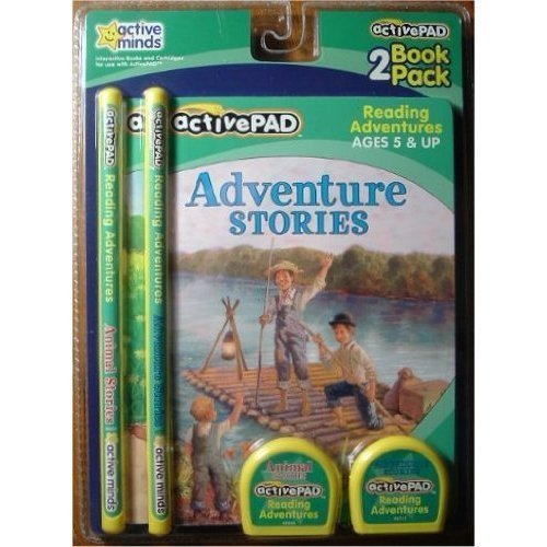 ActivePAD 2 Pack - Adventure Stories & Animal Stories - Stories Include Treasure Island, Gulliver's Travels, Swiss Family Robinson, The City Mouse and the Country Mouse, Henny Penny and Rikki Tikki Tavi by Active Minds