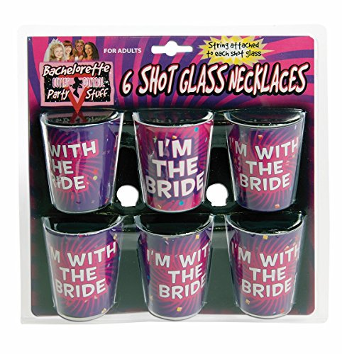 Forum Novelties 74704 Party Supplies Set of 6 Bachelorette Shot Glass Necklaces, Multicolored]()