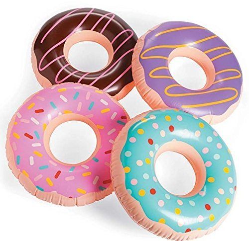 Fun Express Inflatable Donuts, Various Colors, (IN-13720690), (4