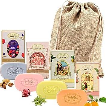 Caja Regalo Belleza Mujer 4 Jabones Manteca de Karite Organico , Aceite de Arga|4