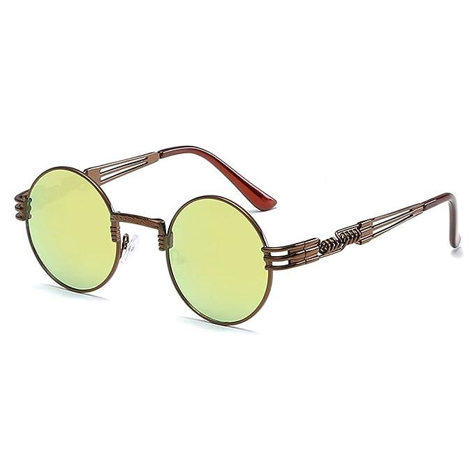 e1030a2b420c16 Juleya Spiegel Objektiv Weinlese Retro Runde Steampunk Sonnenbrille Color 3