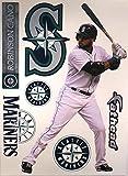 "Robinson Cano FATHEAD Seattle Mariners Logo Set Official MLB Vinyl Wall Graphics 17""x8"" INCH"