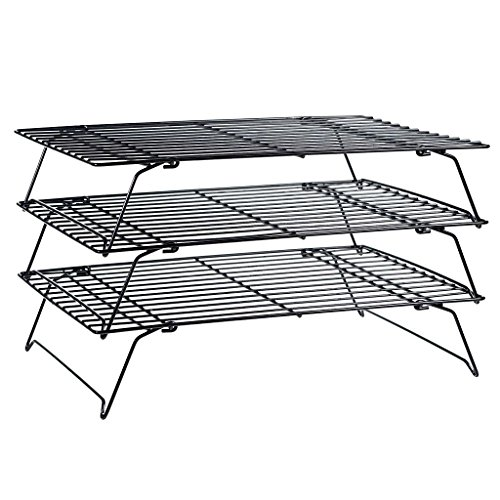 Homyl 3 Tier Cooling Racks For Baking Cookie Bakery Wire Stackable Cake Food Rack