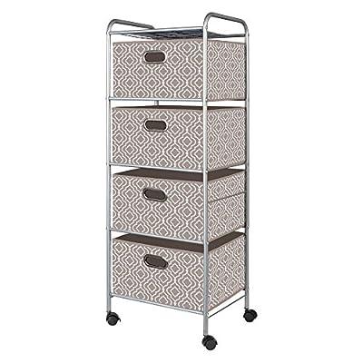 Bintopia 4 Drawer Trolley Closet Storage Cart