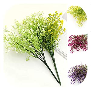 meiguiyuan 1 Bouquet DIY Artificial Baby's Breath Flower Gypsophila Fake Silicone Plant for Wedding Home Party Decorations 60