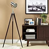 Modern Retro Metal Spotlight Tripod Floor Lamp in Espresso Finish - Includes Modhaus Living Pen