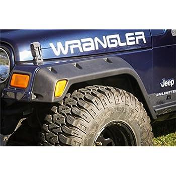 Rugged Ridge 11630.30 4-Piece Fender Flare Kit for Jeep Wrangler TJ//LJ
