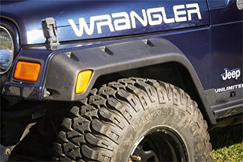 Rugged Ridge 11630.20, 4.75 All-Terrain Fender Flare Kit for 1997-2006 Jeep Wrangler - 4 Pieces