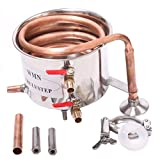 Home Distiller Moonshine Alcohol Still Stainless Boiler Copper Thumper Keg