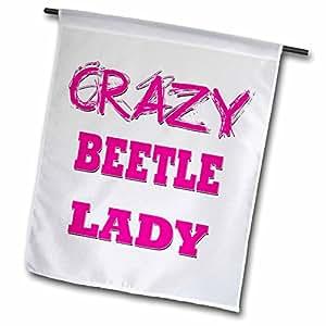 3dRose fl _ 174942_ 1Crazy Beetle Lady jardín bandera, 12por 45,72cm