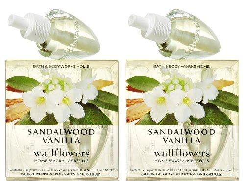 Set of 2 Bath & Body Works Sandalwood Vanilla Wallflower Ref