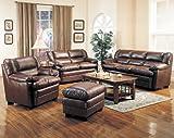 Coaster Harper Sofa in Rich Brown Leather