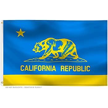 amazon com true blue and gold california flag 3 by 5 foot flag