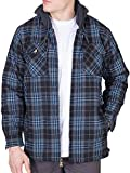 Product review for Walnut Creek Mens Flannel Jacket Zip Up Fleece Hoodie Big & Tall Sherpa Heavy Lined Shirt