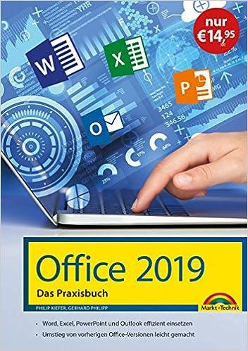 amazon office 2019 das praxishandbuch word excel powerpoint