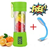SELERTS USB Juicer Cup, Fruit Mixing Machine, Portable Personal Size Eletric Rechargeable Mixer, Blender, with USB Charger Cable Portable Juice Blender and Mixer(USB Light Free)