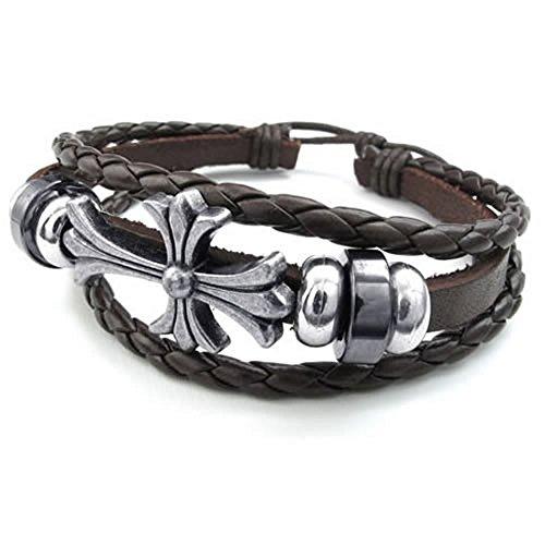 KONOV Womens Leather Bracelet Celtic