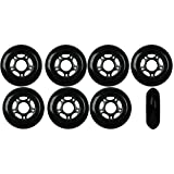 OUTDOOR Inline Skate Wheels ASPHALT Formula 72MM 89a BLACK x8