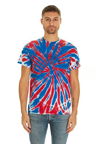 Krazy Tees Tie Dye T-Shirt, Union Jack, L