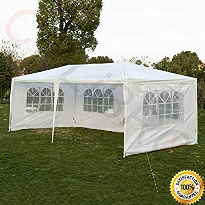 COLIBROX-TM Outdoor 10'x20 Canopy Party Wedding Tent Gazebo Pavilion Cater Events 4 Sidewall Durable Water Proof Polyethylene Commercial Use Parties Backyard Events Tent : Garden & Outdoor