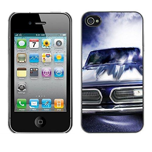 Premio Sottile Slim Cassa Custodia Case Cover Shell // V00002586 voitures de courses // Apple iPhone 4 4S 4G