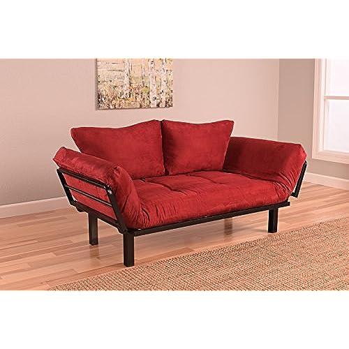 Three Dudes On Red Sofa