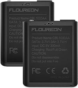 FLOUREON 4 Pack Kids Walkie Talkies 22 Channel Two Way Radios Long Range 3000M (MAX 5000M Open Field) UHF Handheld Outdoor Walkie Talky (Black Battery)