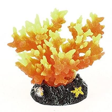 Amazon.com : eDealMax Acuario de silicona decoración Submarino Coral, DE 2, 8 pulgadas, Tricolor : Pet Supplies