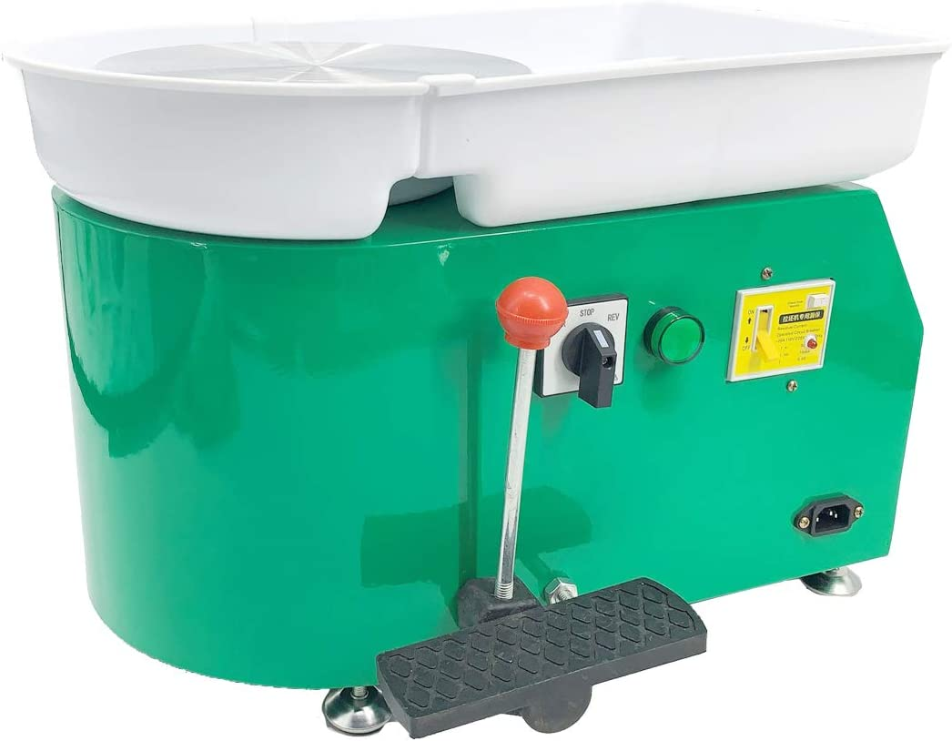 Electric Pottery Wheel Machine with Tray Dia 25cm /& Clockwise Clockwise or Counterclockwise Switch for Ceramic Work Clay Art Craft 110V 350W HOTSTORE Pottery Forming Machine Yellow//Rotary Switch