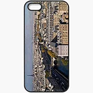 Protective Case Back Cover For iPhone 5 5S Case Paris Eiffel Tower River Seine Black