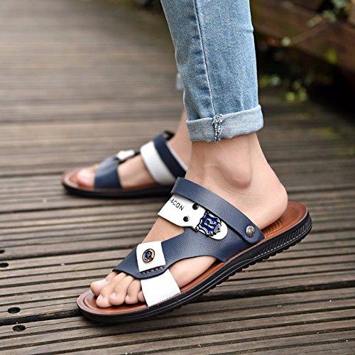 Il nuovo estate traspirante sandali Antiscivolo Doppio uso sandali Adatta a tutti i tipi di partita sandali Tempo libero Uomini guidare Spiaggia scarpa ,blu,US=7.5,UK=7,EU=40 2/3,CN=41