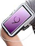 Galaxy S9 Plus Armband, iMangoo Universal Phone Pouch Samsung Galaxy S9 Running Armband Outdoor Sports Key/Card Slot Arm Band Gym Wrist Bag Touchscreen Sleeve for Galaxy S9 S9 Plus Smartphone Black