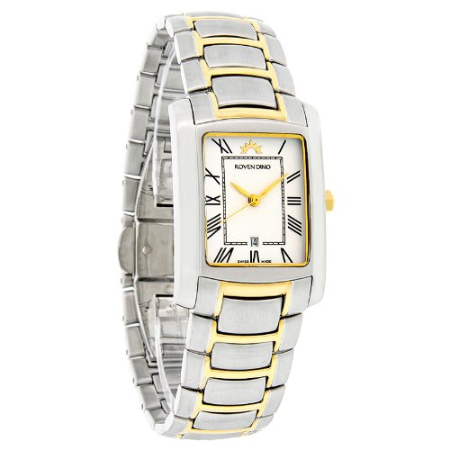 Roven Dino Lexington Mens White Dial Watch 6012MTT15